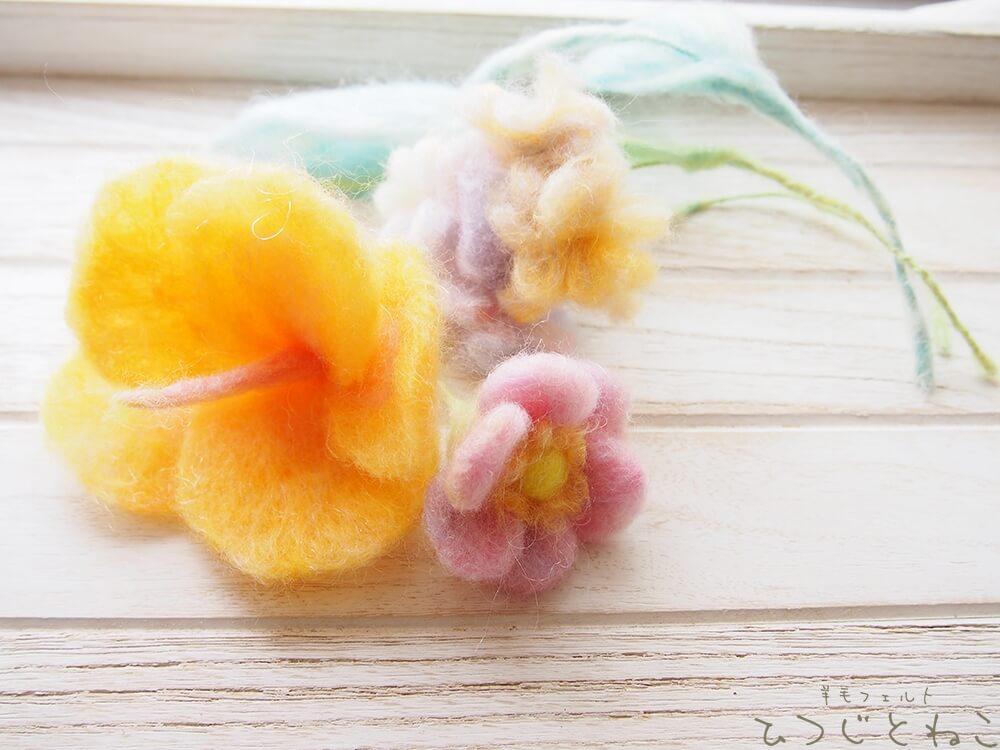 羊毛のお花