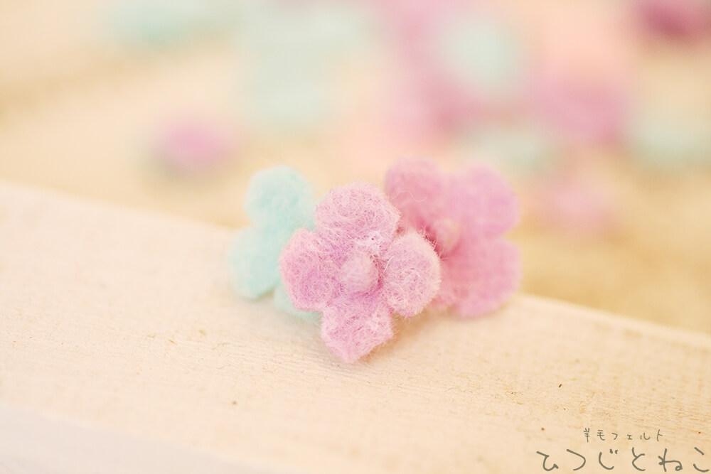 羊毛で作るお花