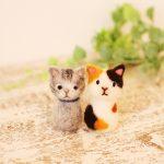 羊毛フェルトで猫を作る体験レッスン