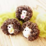 羊毛フェルトのハリネズミ
